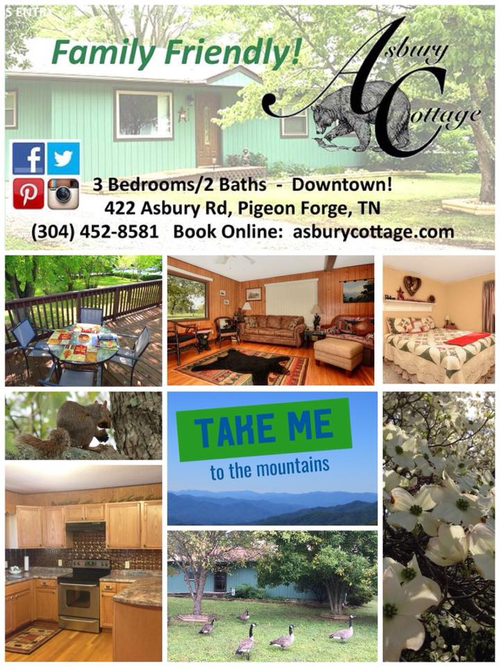 Vacation Rentals in downtown Pigeon Forge, TN